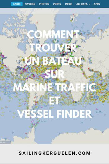 Comment trouver notre bateau sur Marine Traffic et Vessel Finder