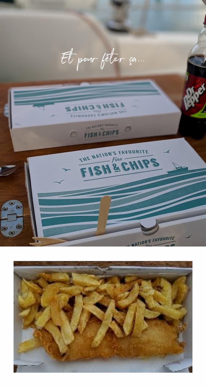 Un fish and chips pour fêter ça !