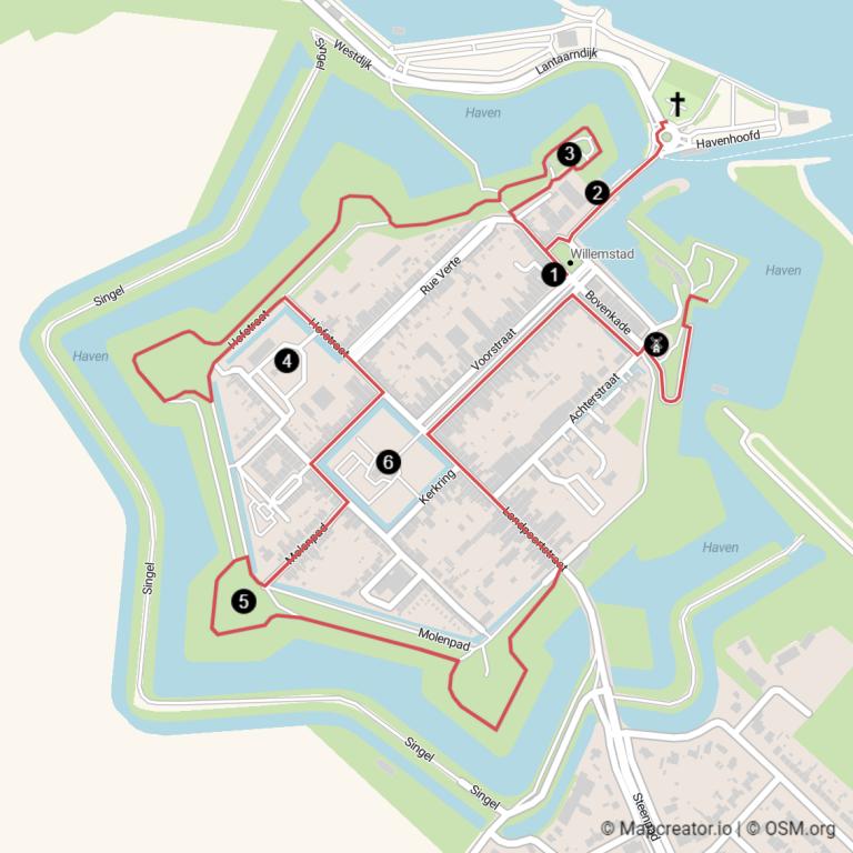 Carte visite une journée à Willemstad