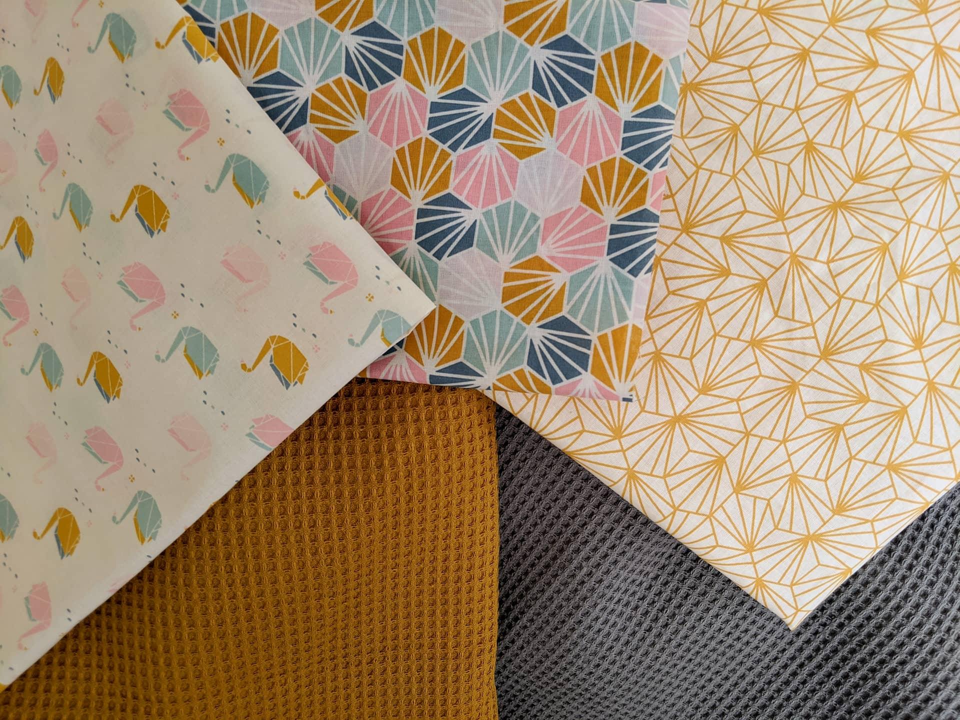 Couture - Projets DIY d'essuie-tout et de mouchoirs en tissu