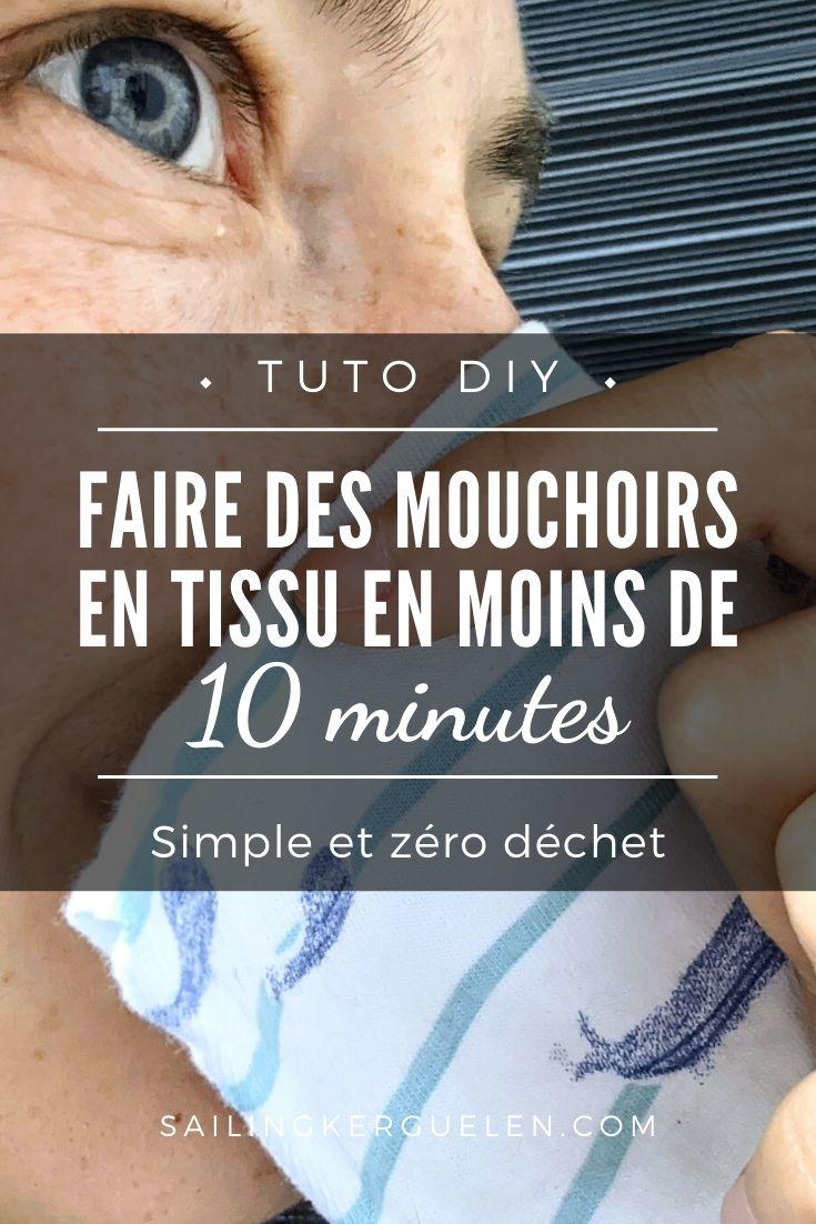 Faire des mouchoirs en tissu sans machine à coudre et en 10 minutes