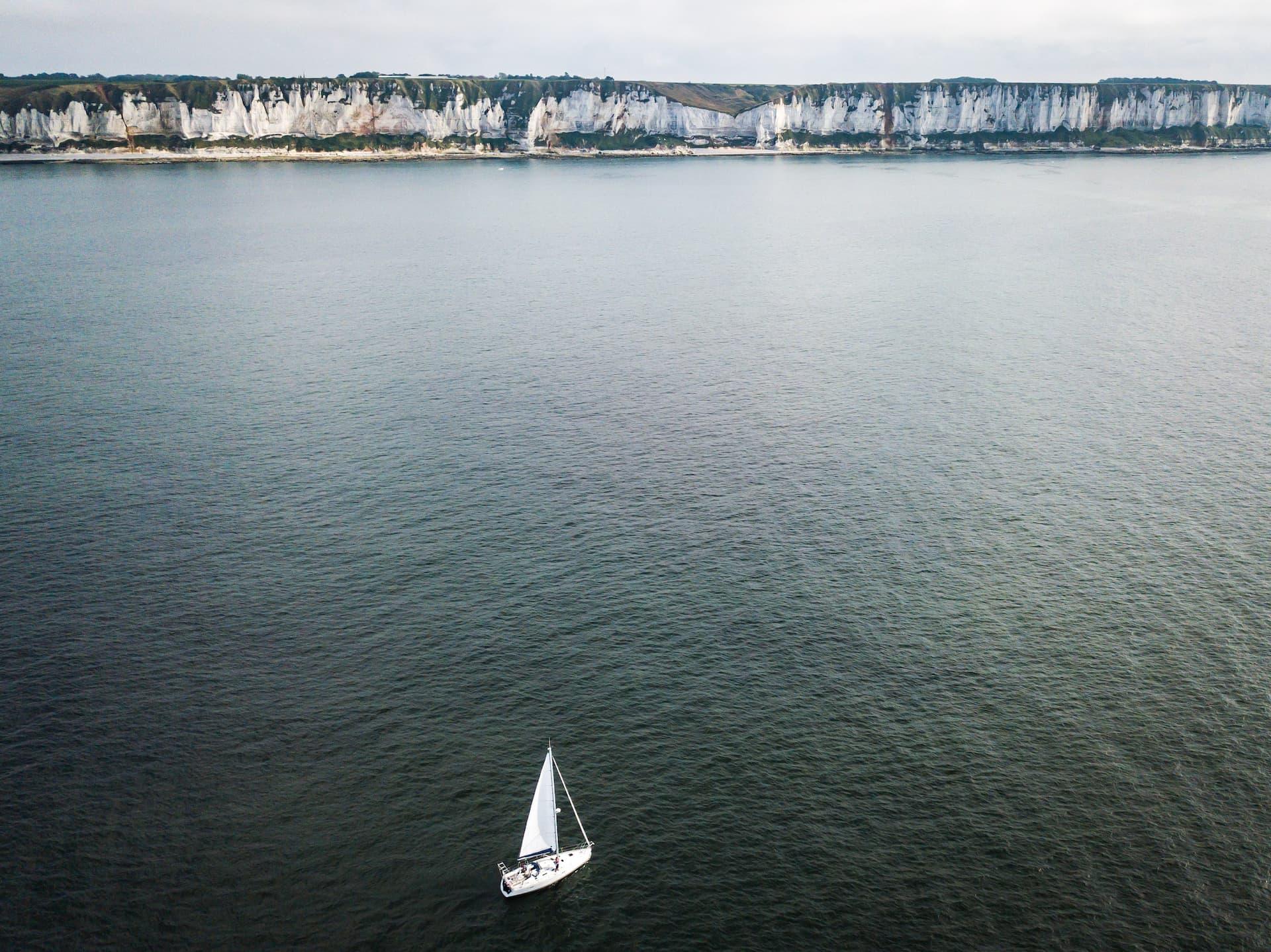La côte d'Albâtre depuis Kerguelen