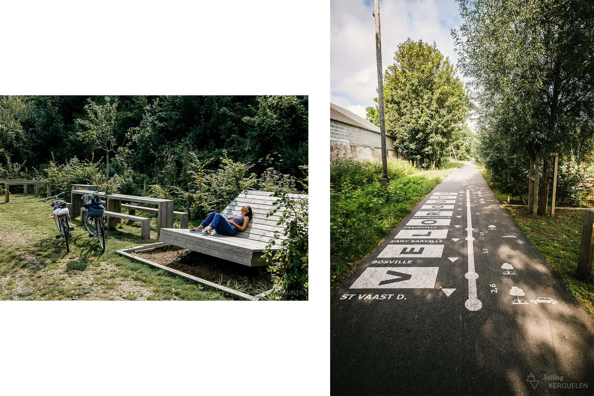 La véloroute du Lin, pour une échappée en vélo lors d'un week-end à Fécamp