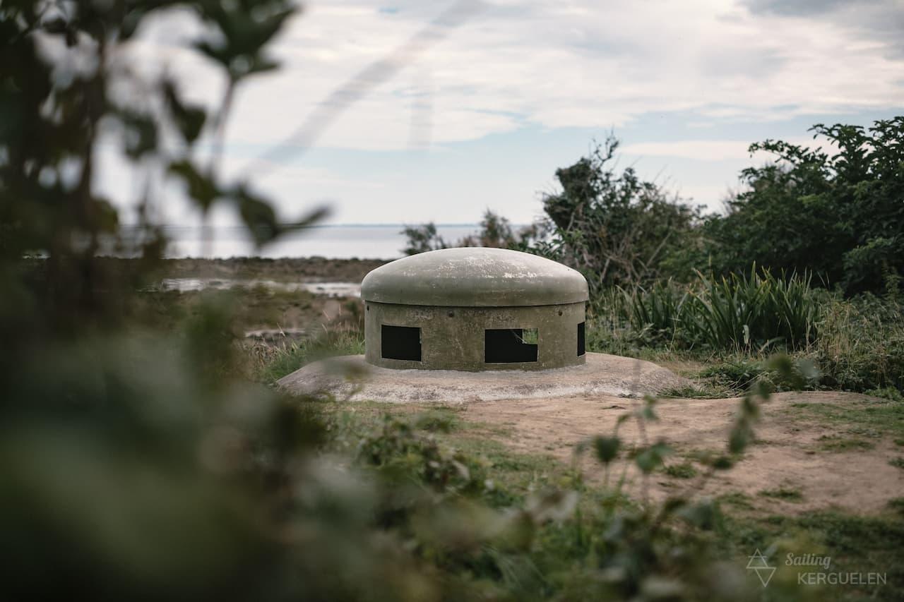 Un blockhaus sur l'île de Tatihou