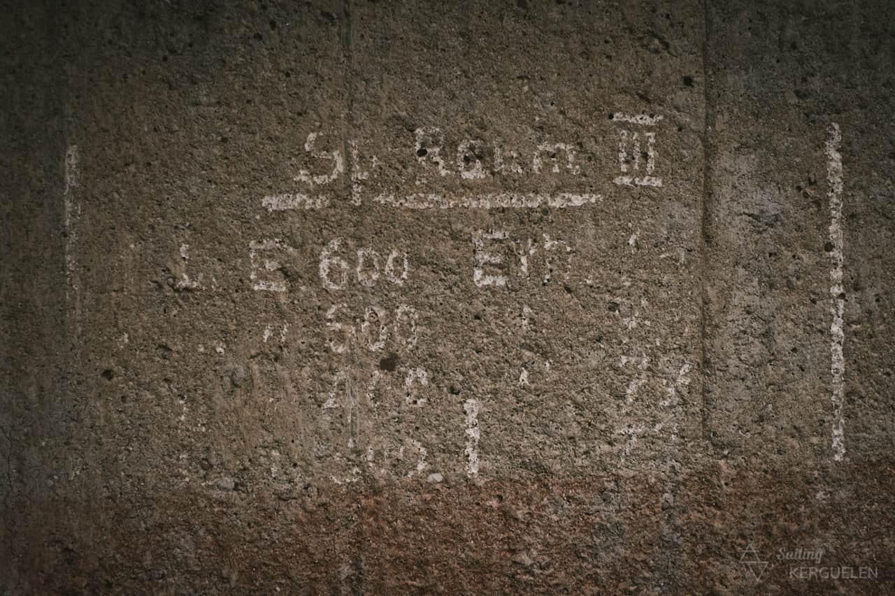 Des écritures datant de la seconde guerre mondiale dans un blockhaus sur l'île de Tatihou