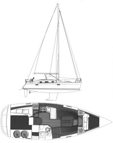 beneteau_343_drawing